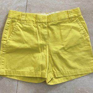 Yellow j crew chino shorts
